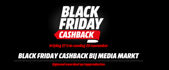 Media Markt Black Friday 2016 Cash Back overzicht