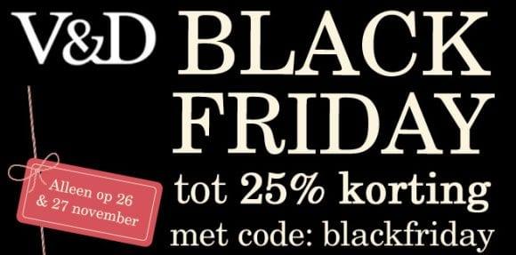 V&D Black Friday aanbieding