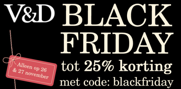 V&D Black Friday aanbieding