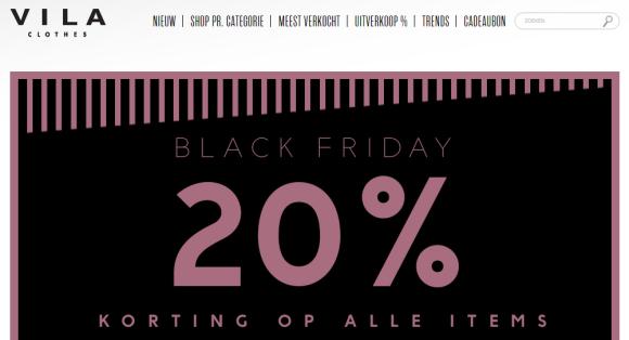 VILA Clothes kleding aanbieding Black Friday 2015