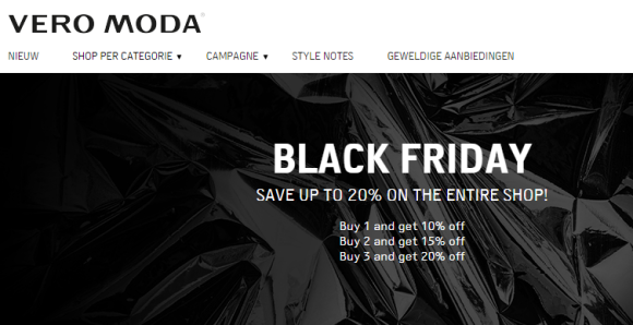 Vero moda black friday 2015 aanbieding